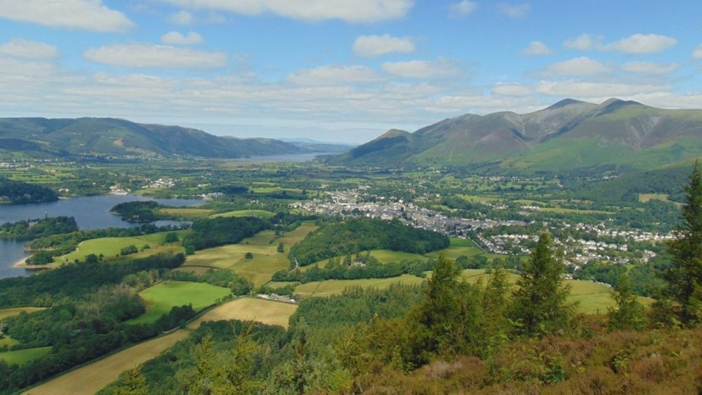 Walla Crag view from Keswick
